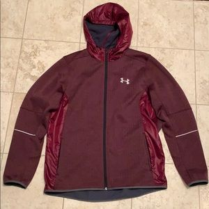 Under Armour cold gear fleece lined hooded  jacket